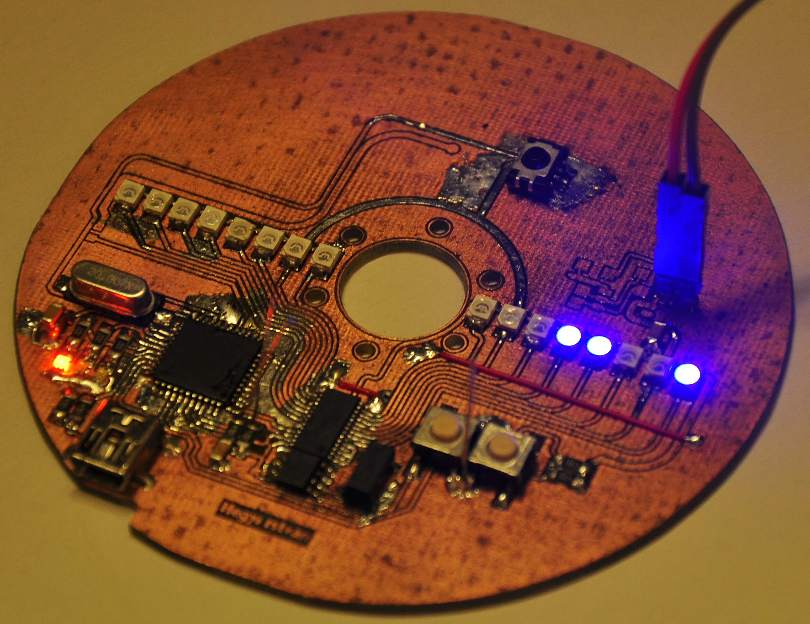 Picture of HDD Clock - Persistence of Vision