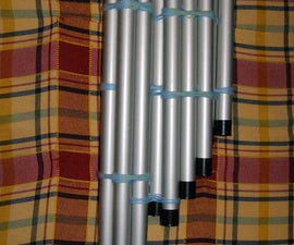 Homemade well tuned pan flute