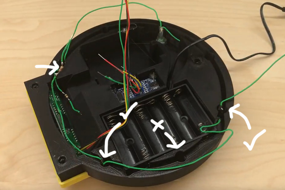 Picture of Attaching Green LEDs