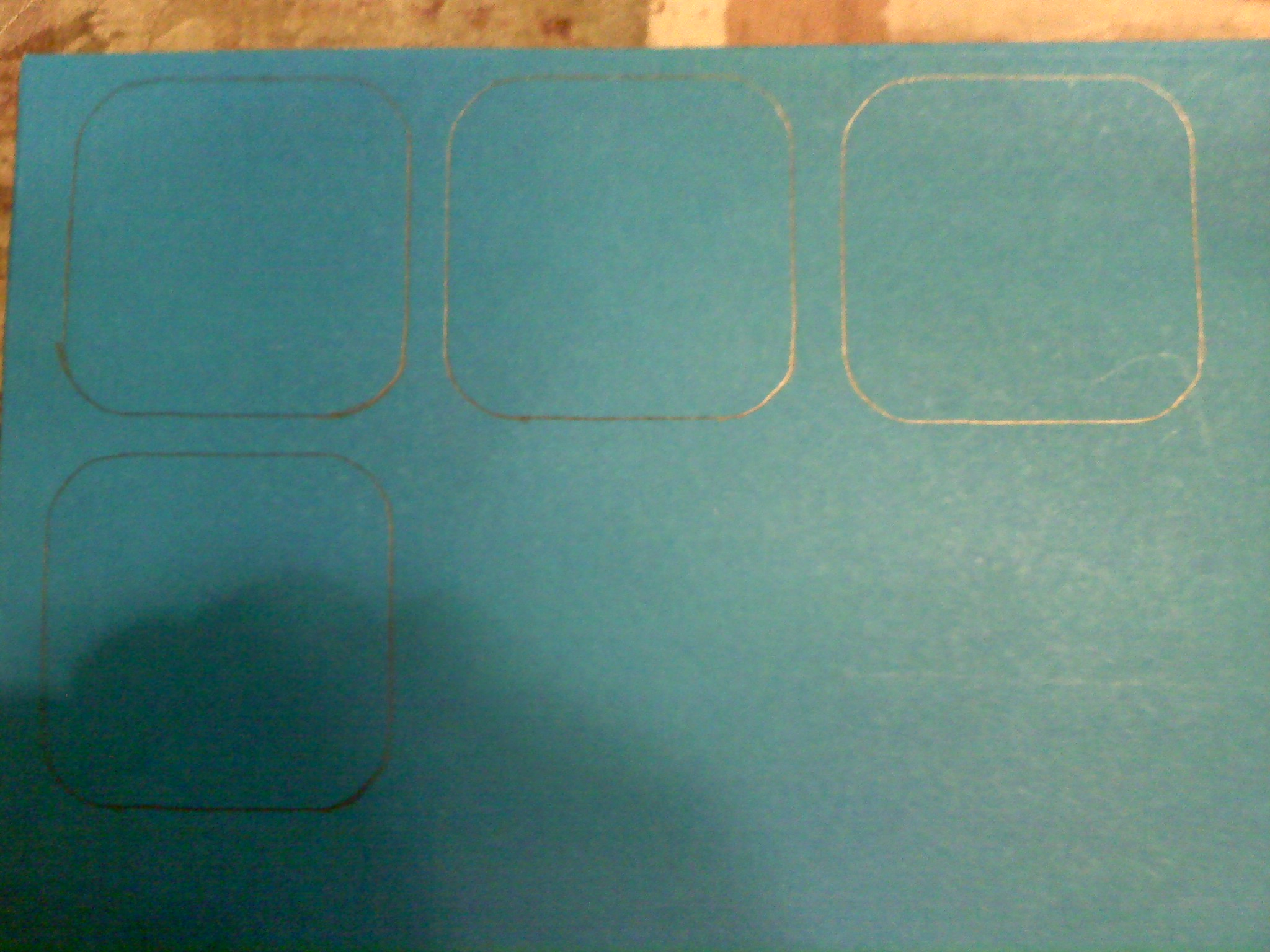 Picture of Cutting Out the Squares