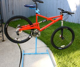 Self Standing Bicycle Repair Stand With Optional Tool/Parts Tray