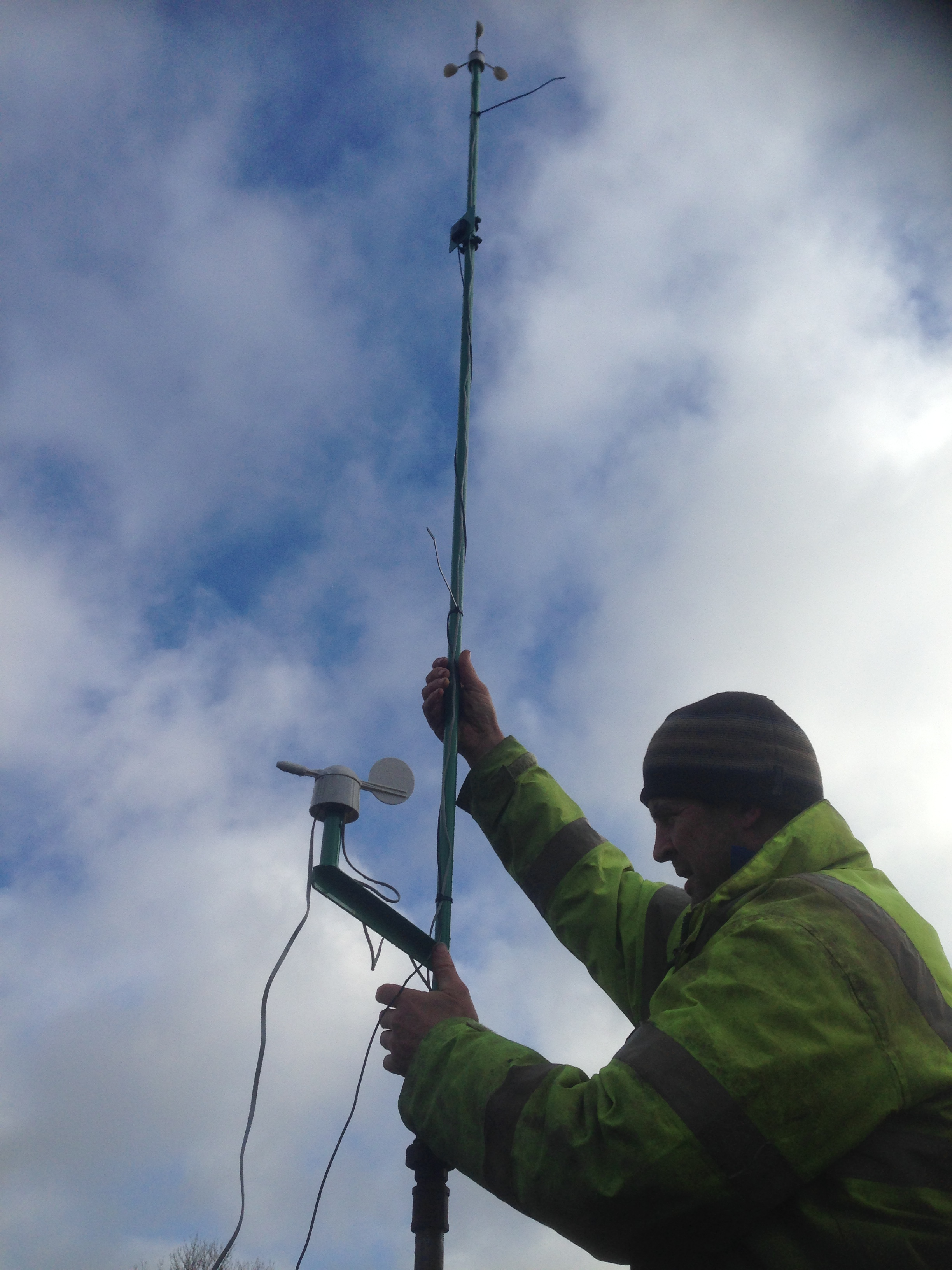 Picture of Building and Installing  the Pole for Wind and Rain Sensors and GPRS Antenna