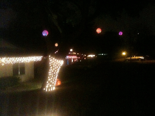 Picture of Outdoor Blinking Christmas Ornament
