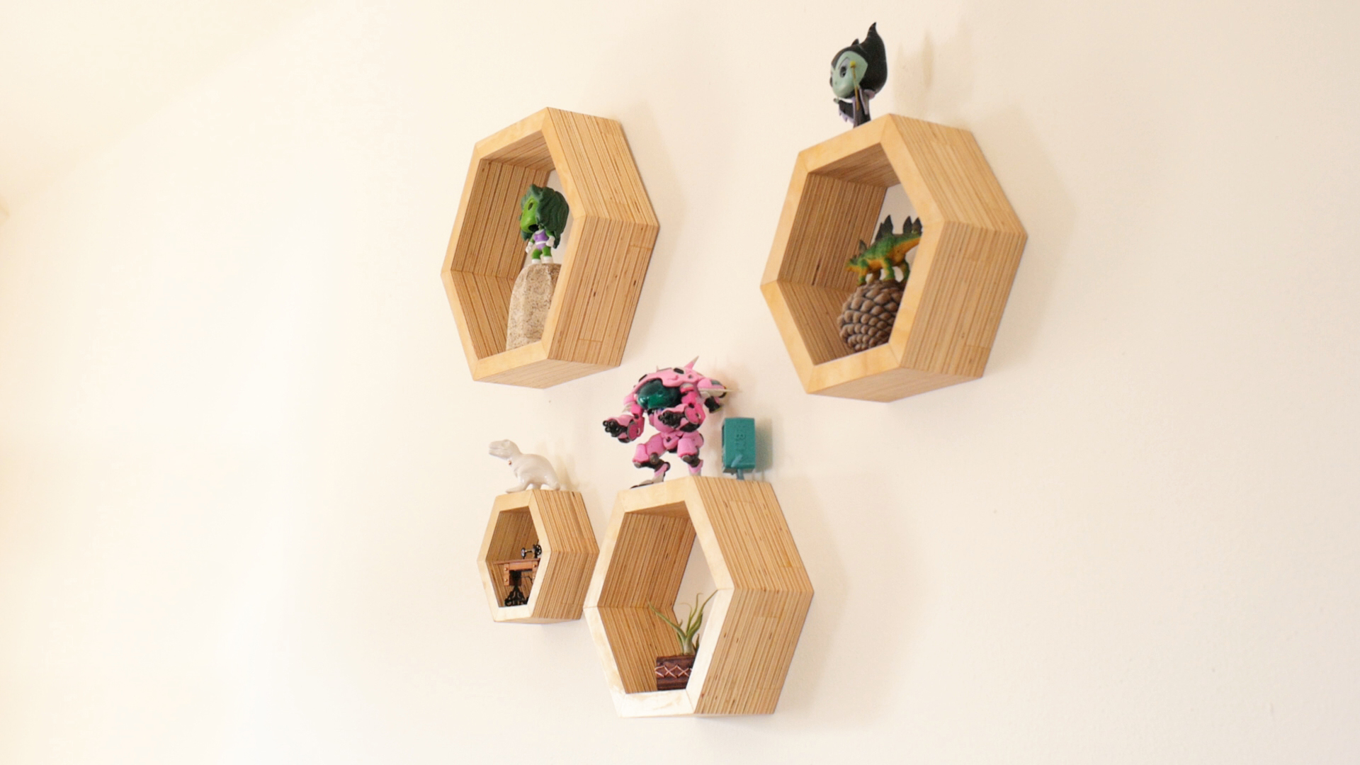 Picture of How to Make Plywood Hexagon Shelves