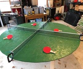 Four Person Circular Ping Pong Table