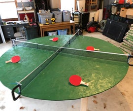 Four Person Circular Ping Pong Table