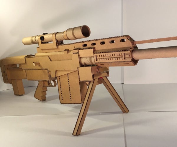 Fully-Functioning Cardboard AS-50 Sniper Rifle