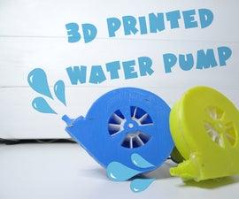 3D Printed Water Pump