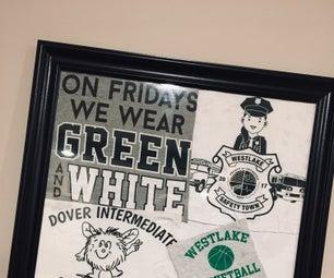 T-Shirt Memorabilia Keepsake Wall Hanging- First Time Author