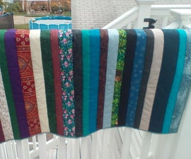 Striped Quilt-as-you-go Blanket