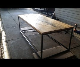 Rustic/Industrial Timber and Steel Coffee Table