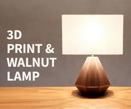 3D Print & Walnut Lamp