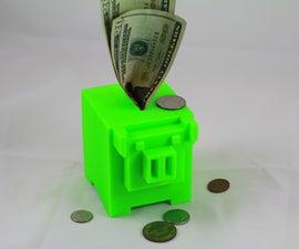 3D Printable 8-bit Piggy Bank