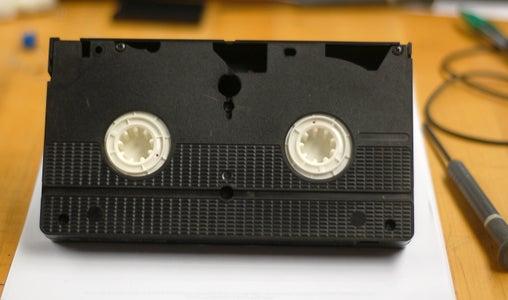 Remove All Screws & Open VHS Cassette
