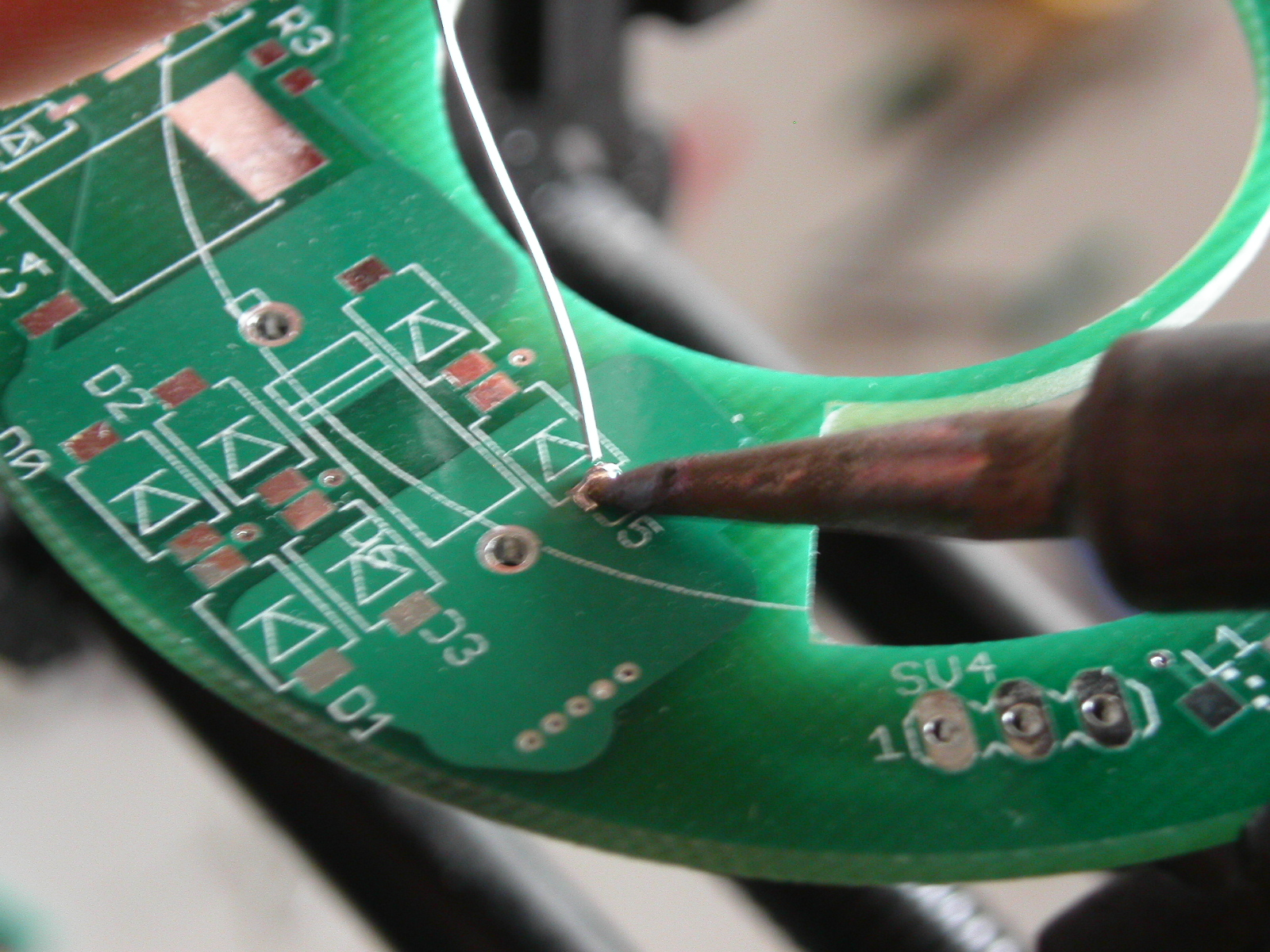 Picture of Surface Mounting Components Onto a Circuit Board