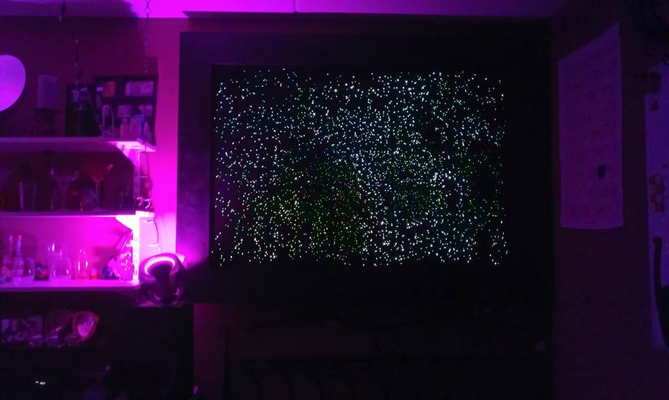 Picture of Optic Fibre Star Map