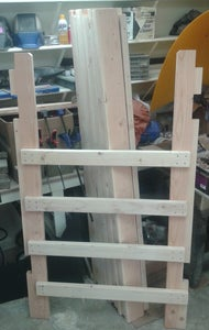Laying Out the Mattress Rail Supports!   :{)