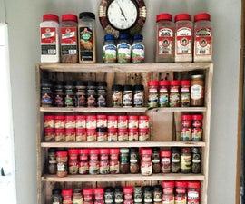 Pallet Spice Rack