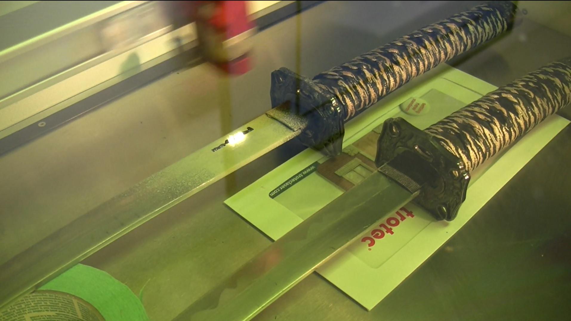 Picture of Laser Marking Samurai Swords
