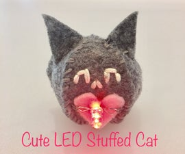 Cute LED Stuffed Cat