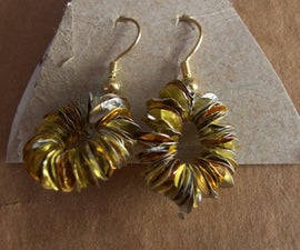 Chocolate Coin Wrapper Earrings!