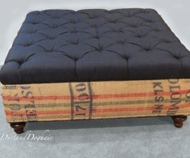 Coffee Sack Coffee Table/Storage Ottoman