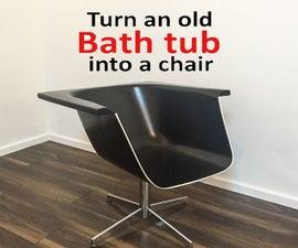 Turn an Old Bath Tub Into a Chair