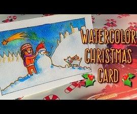 DIY Xmas Card With Watercolors