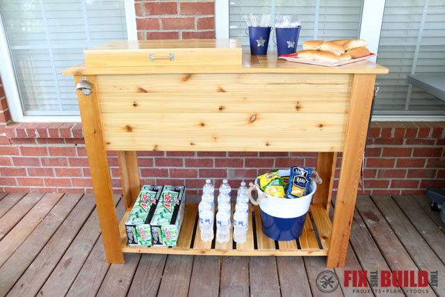 ... Picture Of Patio Cooler U0026 Grill Cart Combo ...