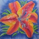 'Rainbow Lily' Silk Painting
