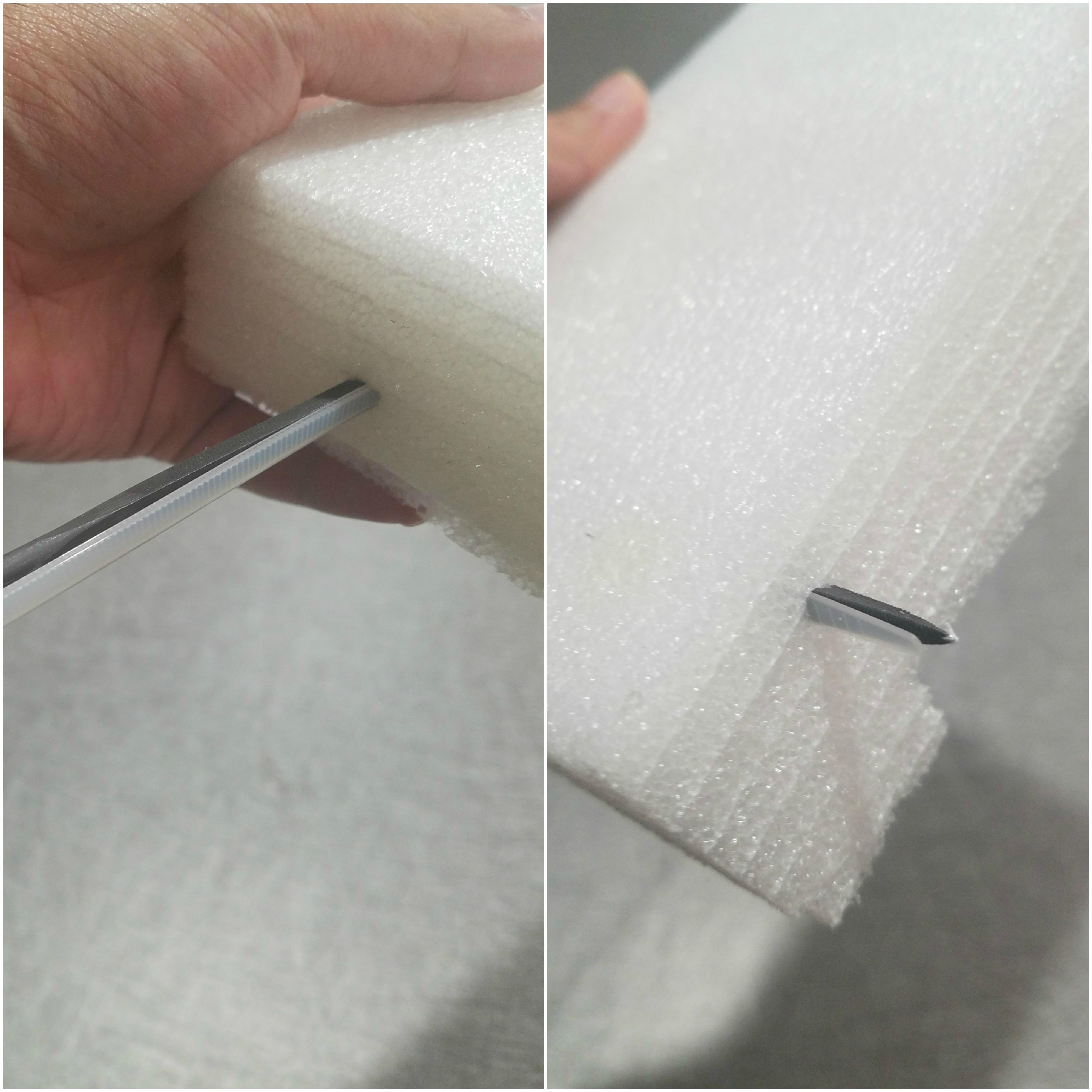 Picture of Insert Zip Tie Inside Foam