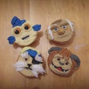 Easy Labyrinth inspired character cupcakes