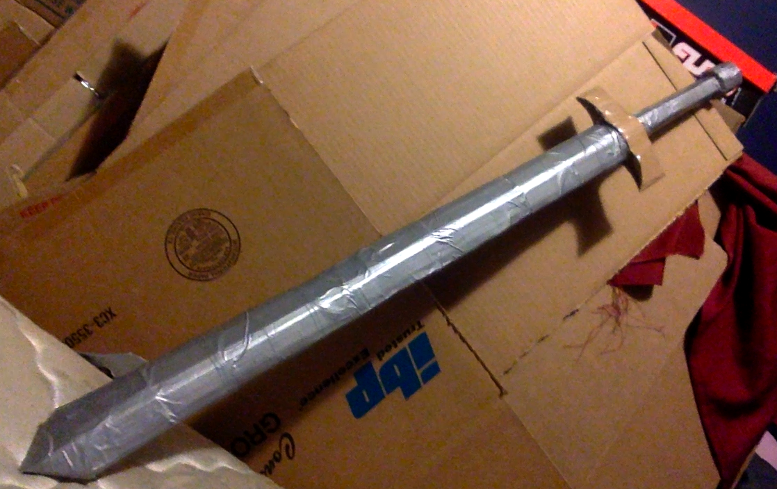 Picture of Cardboard Sword. Strong and Swift.