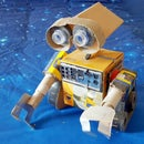 Wall-E Made From Materials Found Around the House!