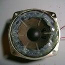 Repair cracking car speaker
