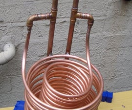 Homebrew Wort Cooler, Twin Coil Immersion Type