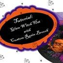 Glam Witch Hat W Custom Resin Brooch