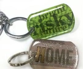 Image Transfer Dog Tag Key Rings