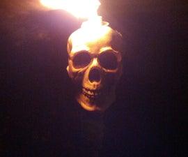 Skeleton Tiki Torch