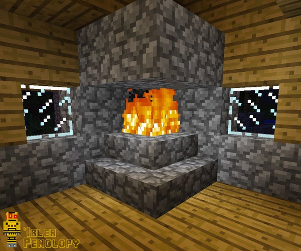 How to Make a Fireplace That Won't Burn Your House Down in Minecraft