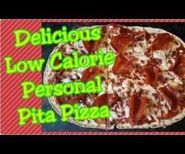 Delicious Low Calorie Pita Pizza