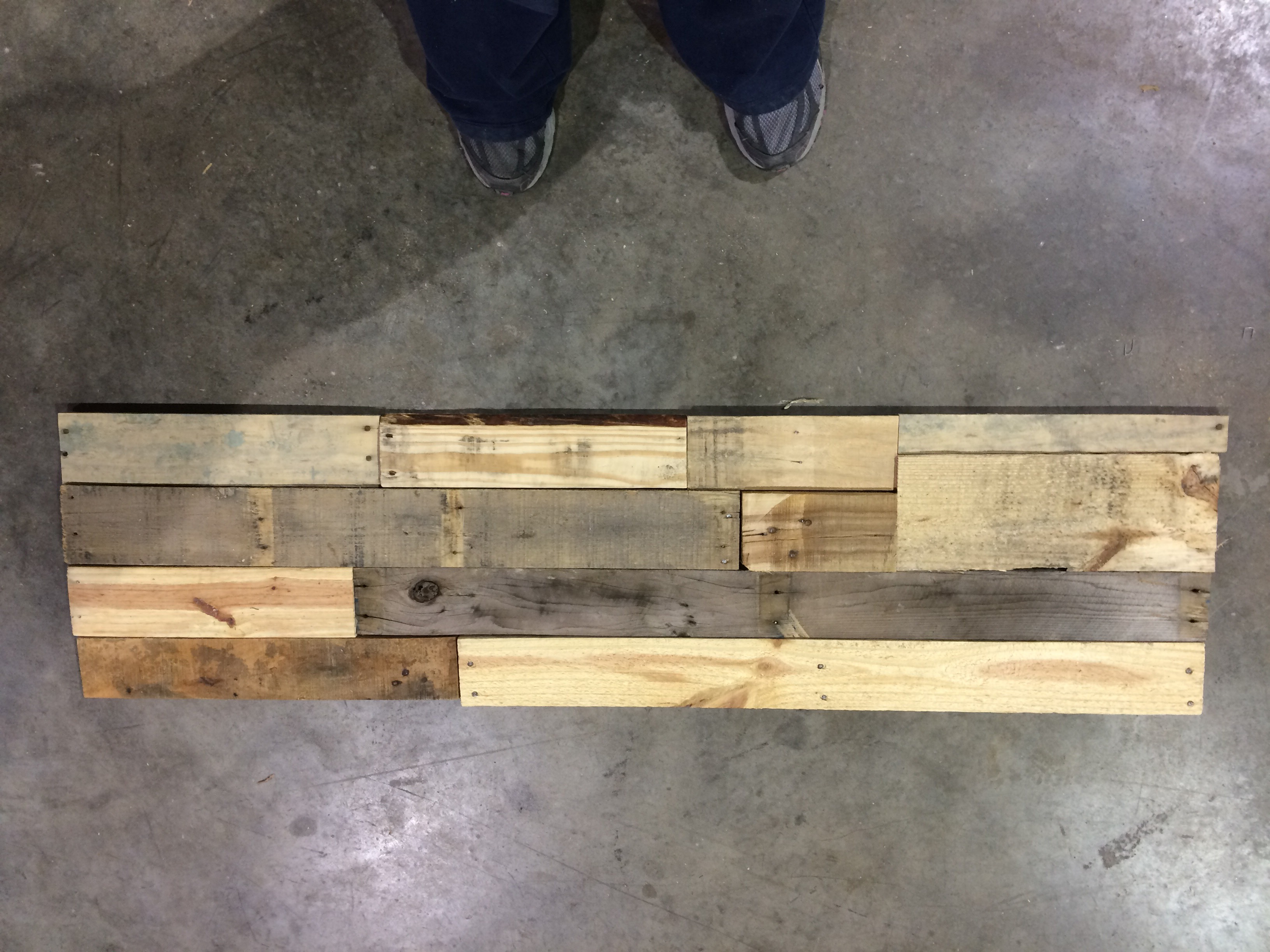 Picture of Arrange and Attach Wood to Backer