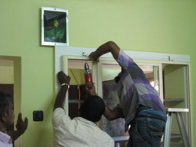 Fitting the Framework on Dining Room Side