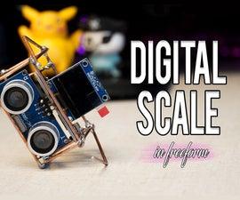 Digital Scale Using Ultrasonic Sensor ( in Freeform )