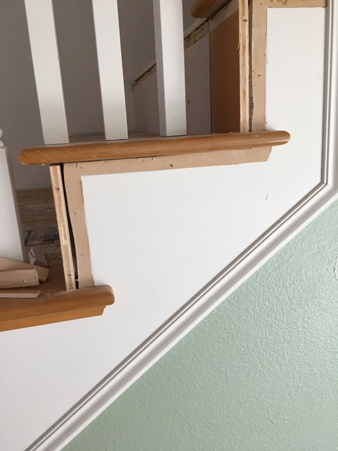 Picture of Remove the Molding on the Side of the Staircase