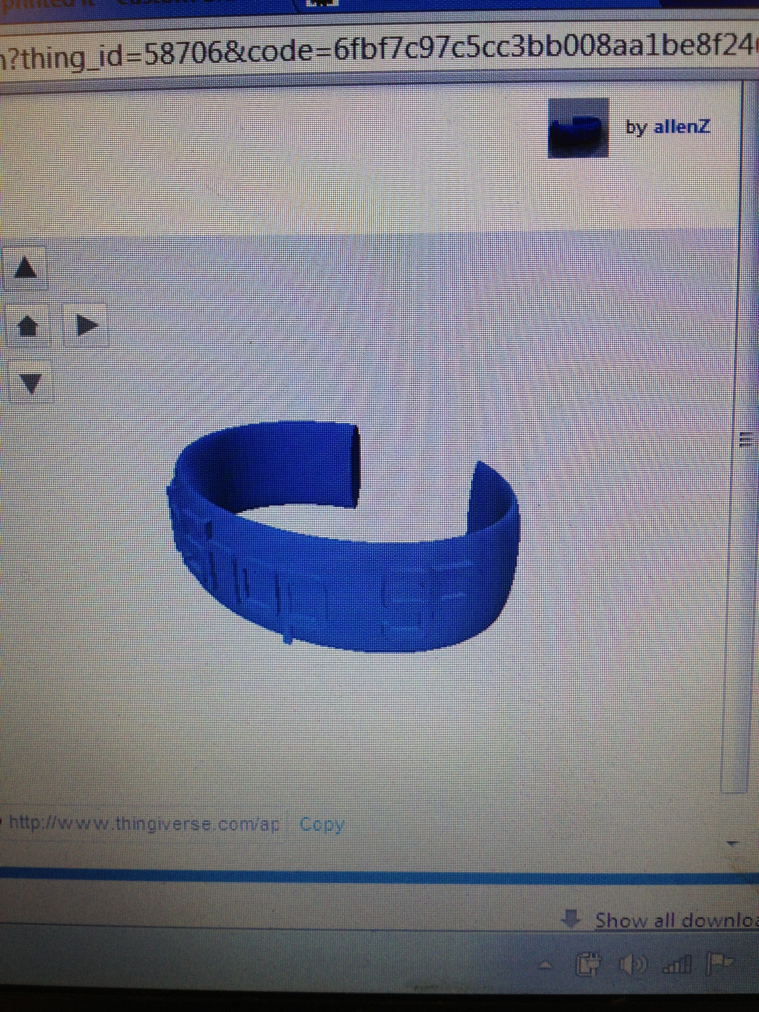 Picture of Thingiverse Custom Ellipse Bracelets: Testing the Live Text Preview Feature