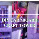 DIY Cardboard Craft Tower Organizer