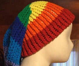 Slouch beanie hat made from recycled T-Shirts