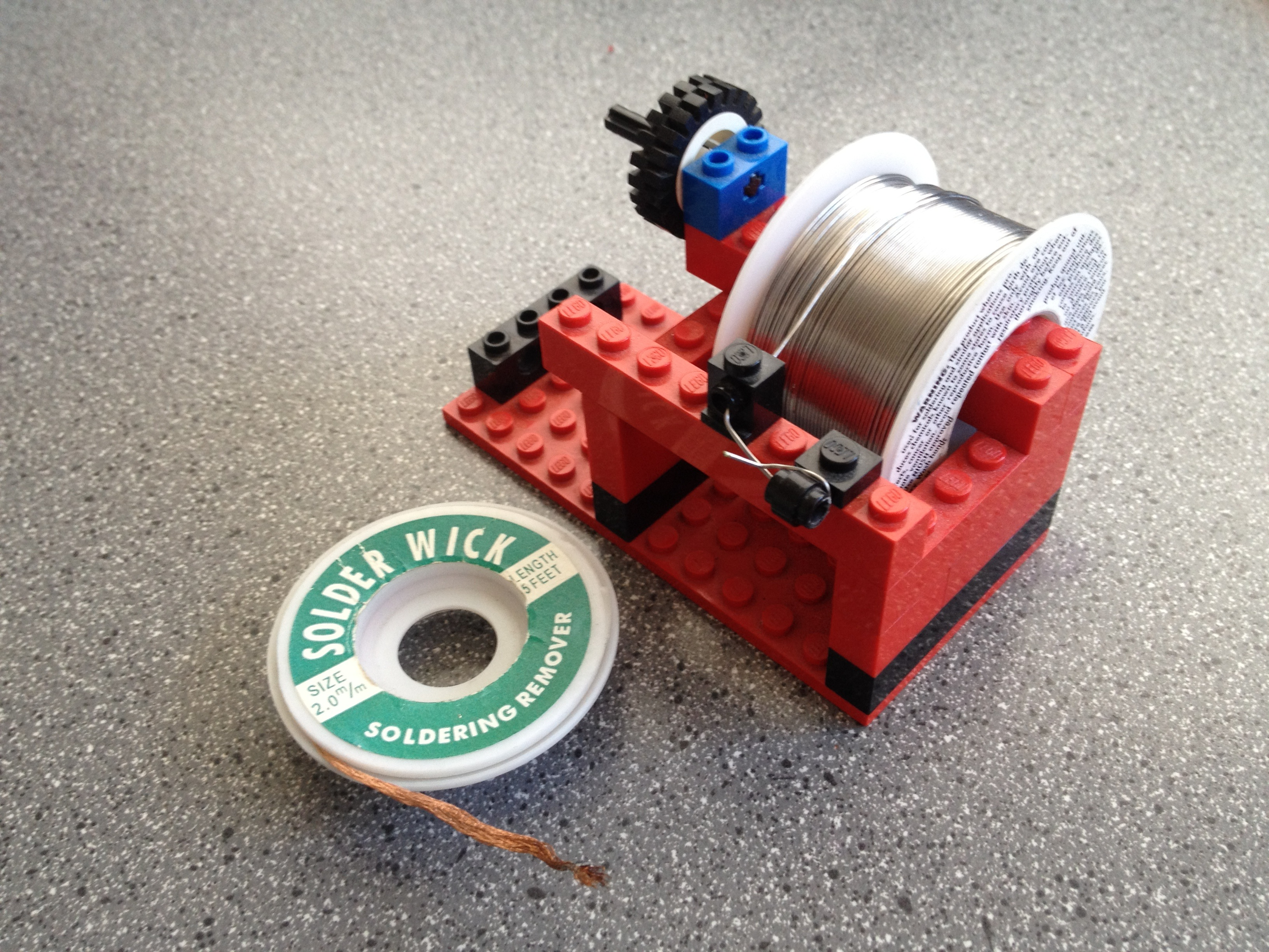 Picture of Lego Solder Spool + Wick Holder