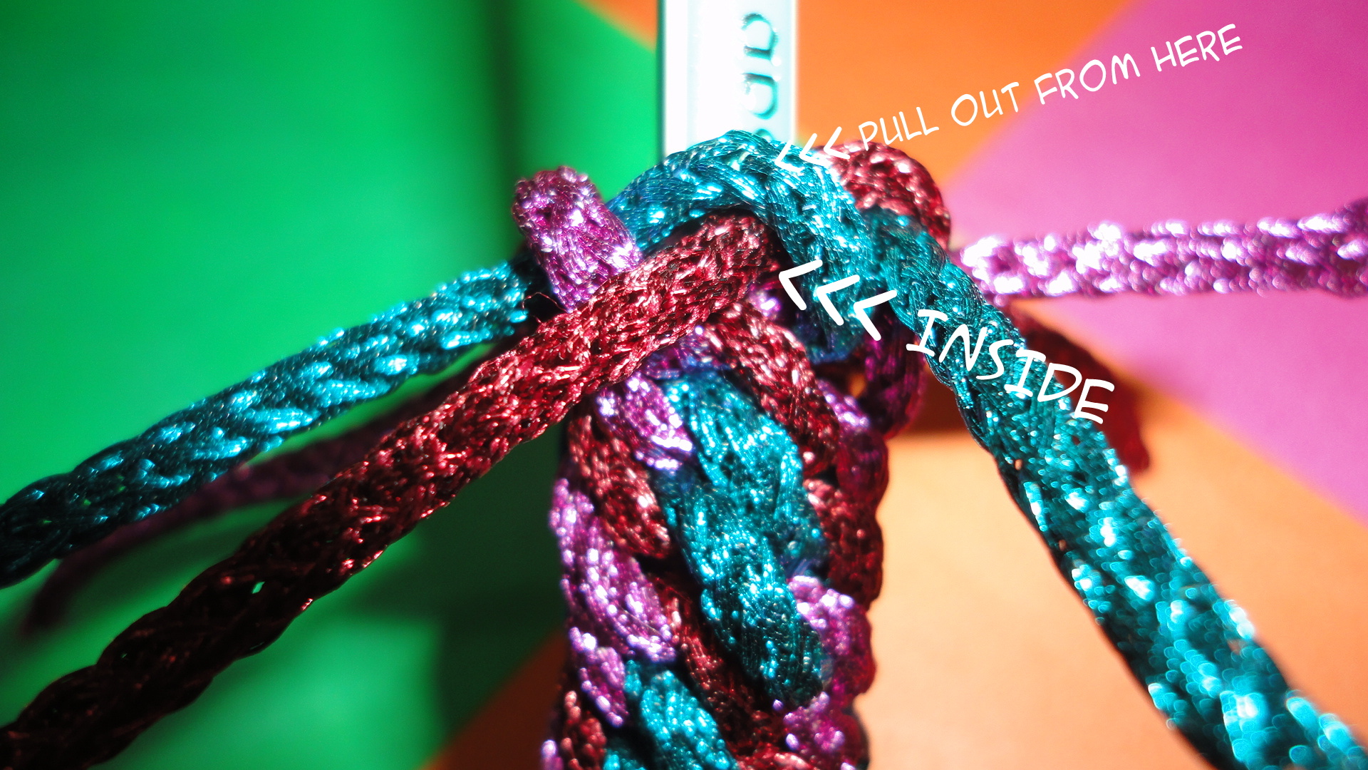 Picture of Making the 6-strand Ending Knot...